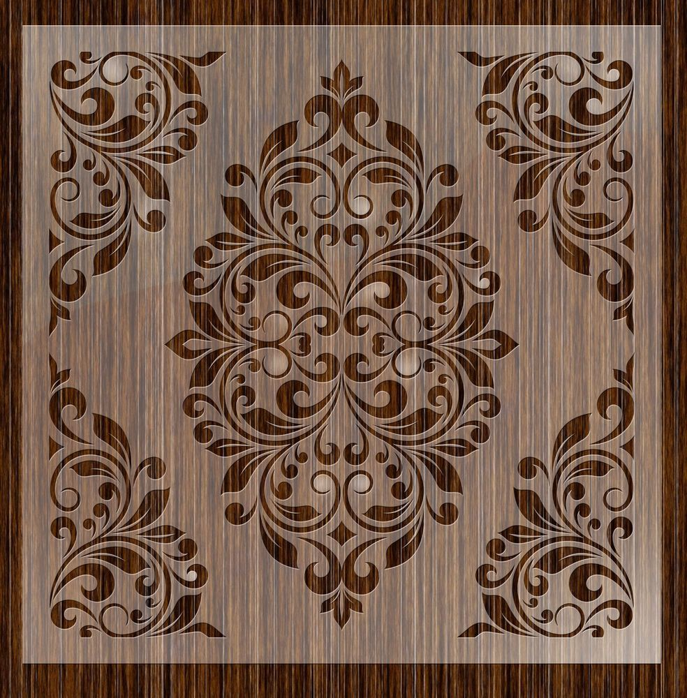 Details About Fantasy Stencils 24 Damask Large Wall