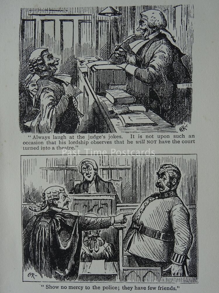 c1909 Cartoon Barrister Law Wig /& Gown HUMAN NATURE REBELS