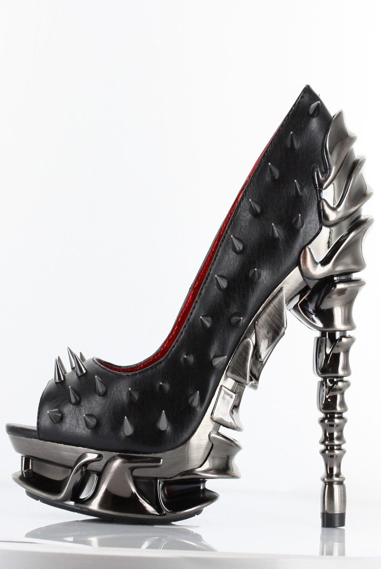 Hades Shoes - Talon - Black - Metal Goth Alternative Cyber