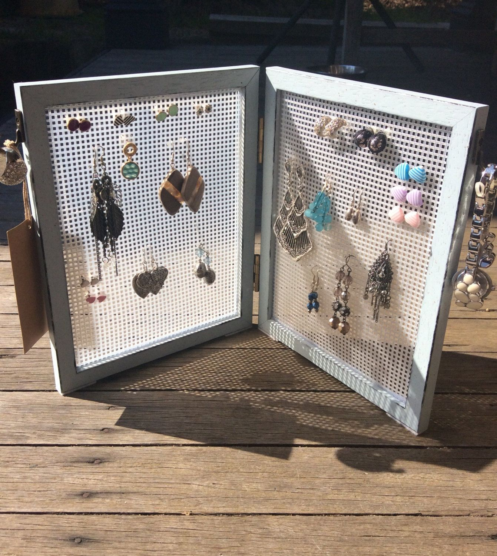 Jewellery organizer, earring frame, earring storage, stud & hook ...