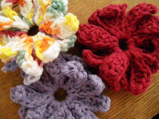 Xeranthemum Crochet Flower Motif 5 ~ free pattern
