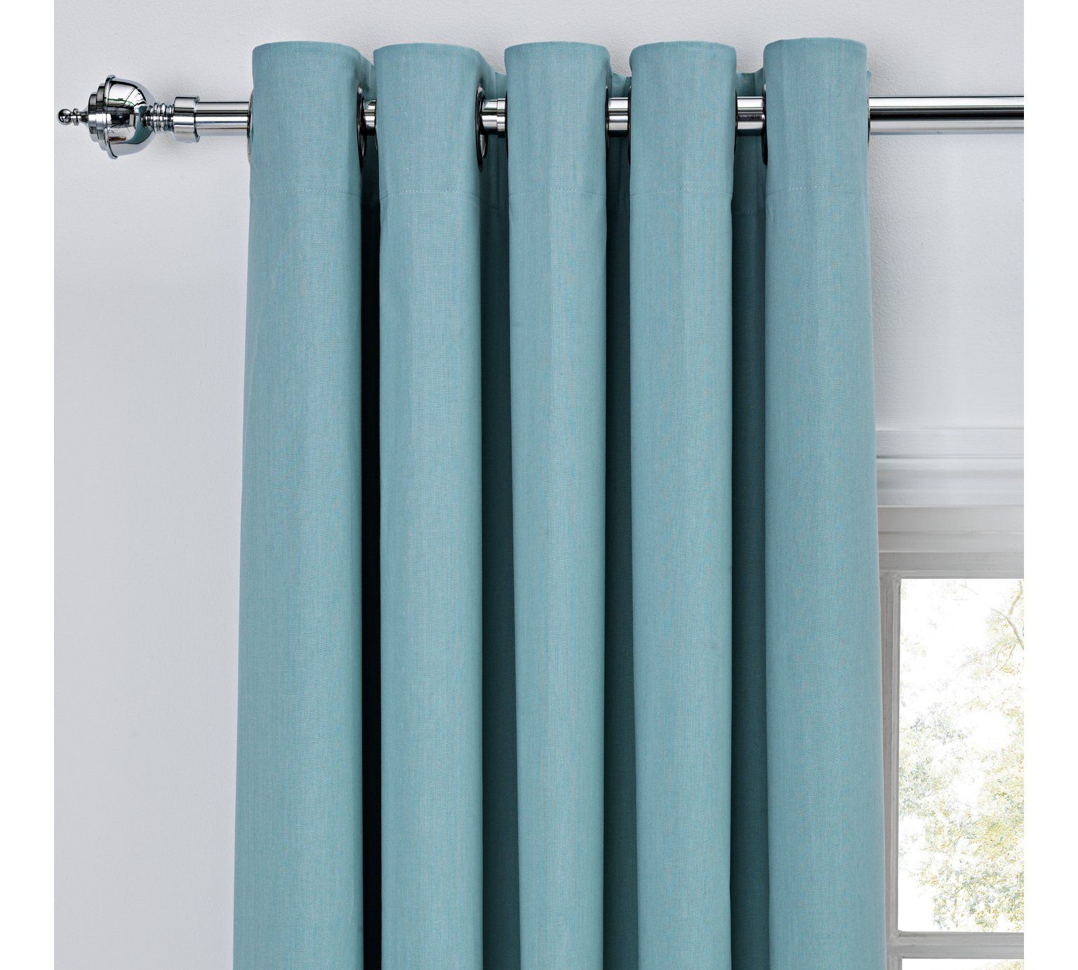 Buy ColourMatch Thermal Blackout Curtains - 117x137cm - Duck Egg at ...