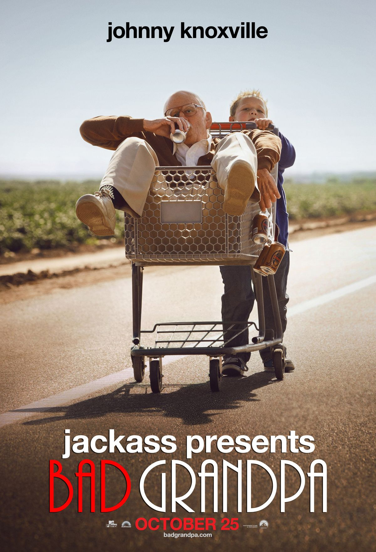 Bad Grandpa , starring Johnny Knoxville, Jackson Nicoll, Spike Jonze, Georgina Cates. 86-year-old Irving Zisman is on a journey across America with the most unlikely companion: his 8 year-old grandson, Billy. #Comedy