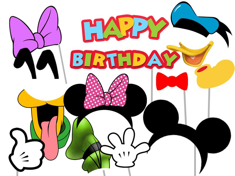 Mickey Mouse and Friends Photo Booth Props - Clubhouse, Instant ...