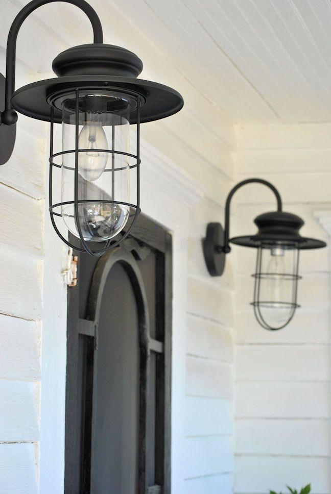 Porch Lighting   Love These! LaurieAnnau0027s Vintage Home: Farmhouse Friday ~  Farmhouse Porch   For Backyard