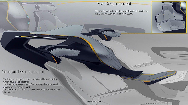 autonomous driving interior design on behance transportation interior sketches pinterest. Black Bedroom Furniture Sets. Home Design Ideas