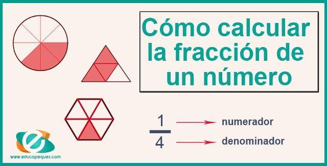 Cómo Calcular La Fracción De Un Número Fracciones Matematicas Como Calcular El
