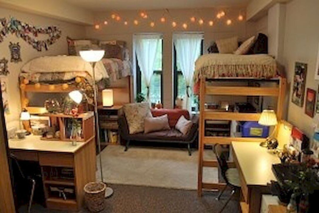 Loft bed ideas dorm  Pin by Taylor Heizer on College  Pinterest  Dorm Dorm Room and Room