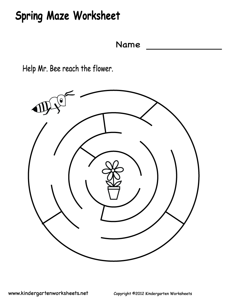 springmazeworksheetprintablepng 800 1035 – Spring Worksheets for Kindergarten