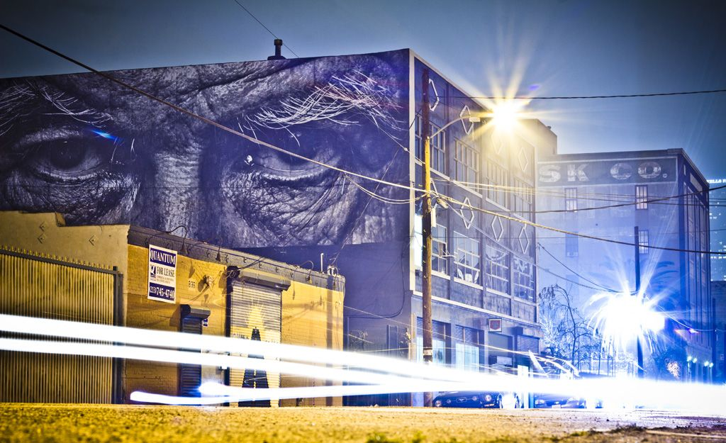 Jr la los angeles art building illustration street