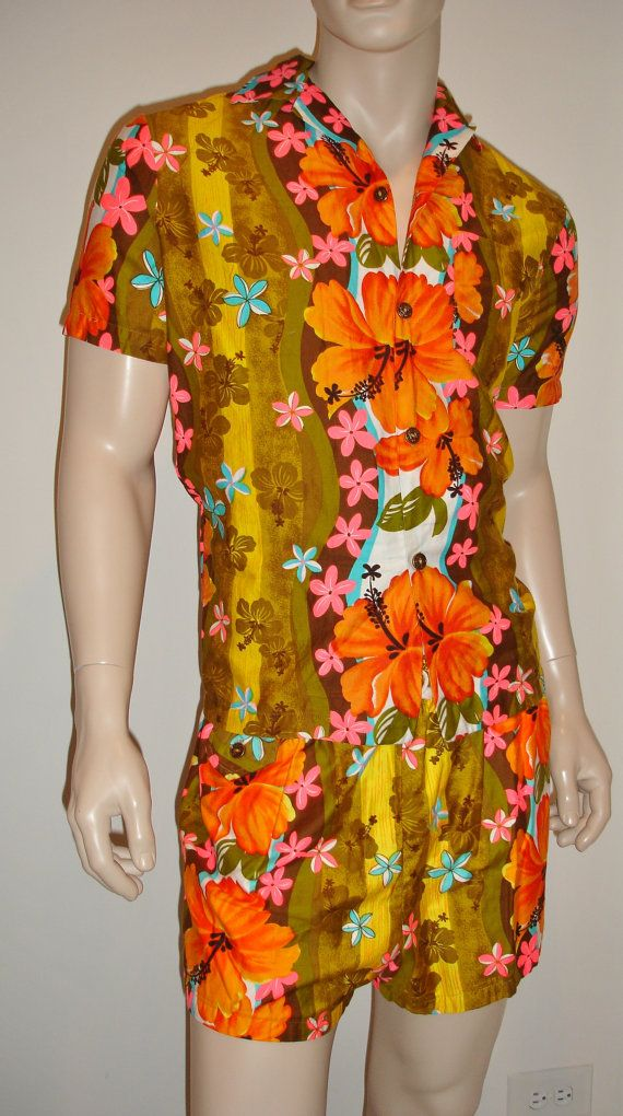 c2770d2d Vintage 1960's Neon ROYAL HAWAIIAN Shirt and by ElectricLadyland1 #tropical  #floral
