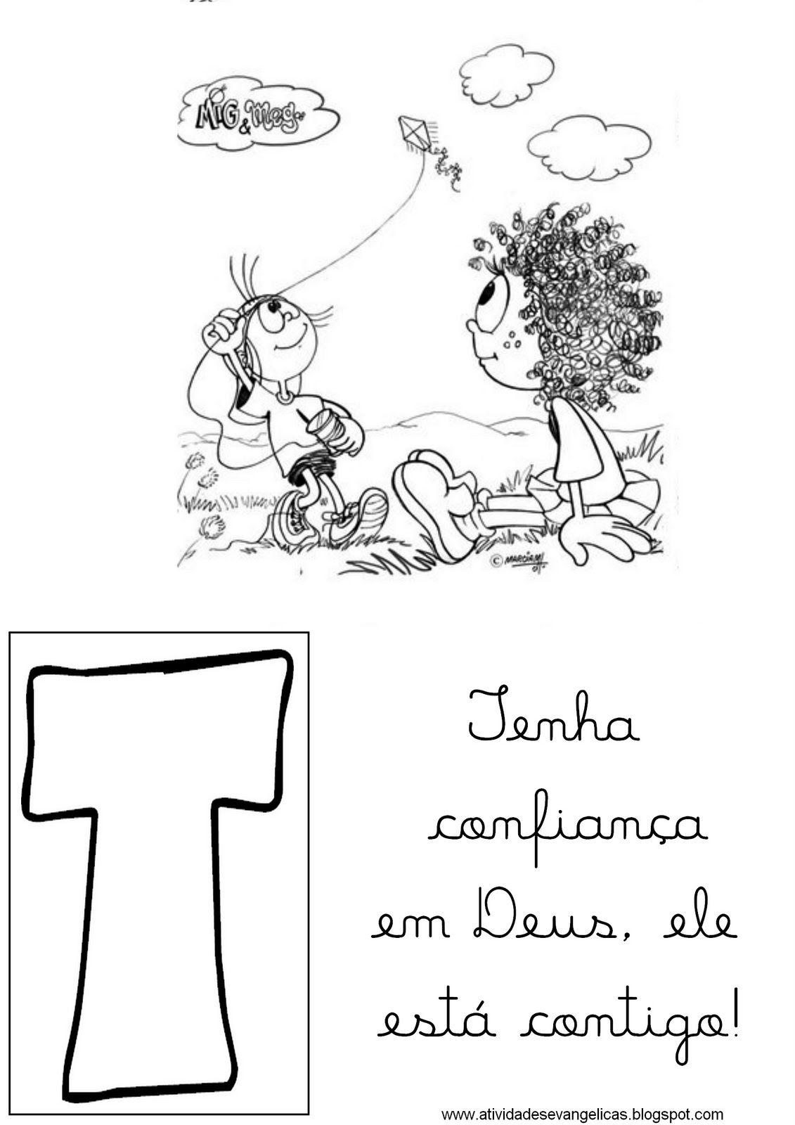 Atividades Evangelicas Alfabeto Mig E Meg Apostila Infantil