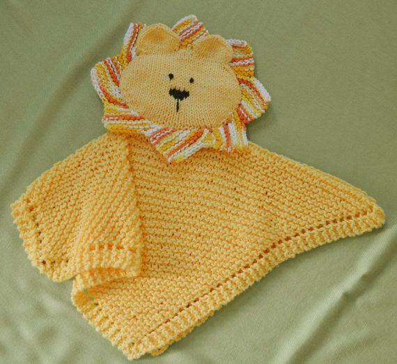 PDF Knitting Pattern HugKnits LION - Security blanket - Lovey kp0413 ...