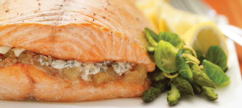 Saumon au bleu et aux poires