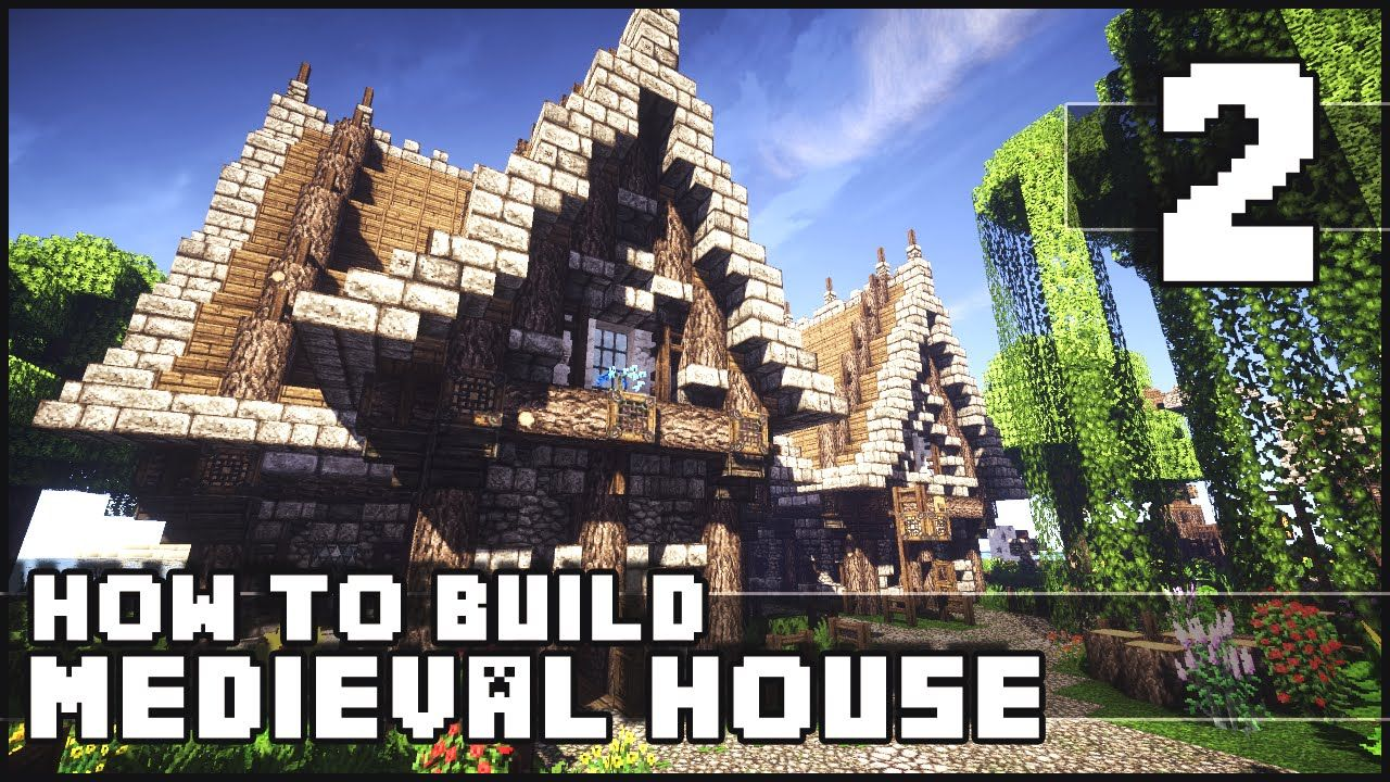 Minecraft - How To Build   Medieval House