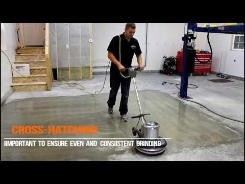 1 How To Diamond Grind A Concrete Floor Youtube Concrete Stained Floors Concrete Floors Basement Flooring Waterproof