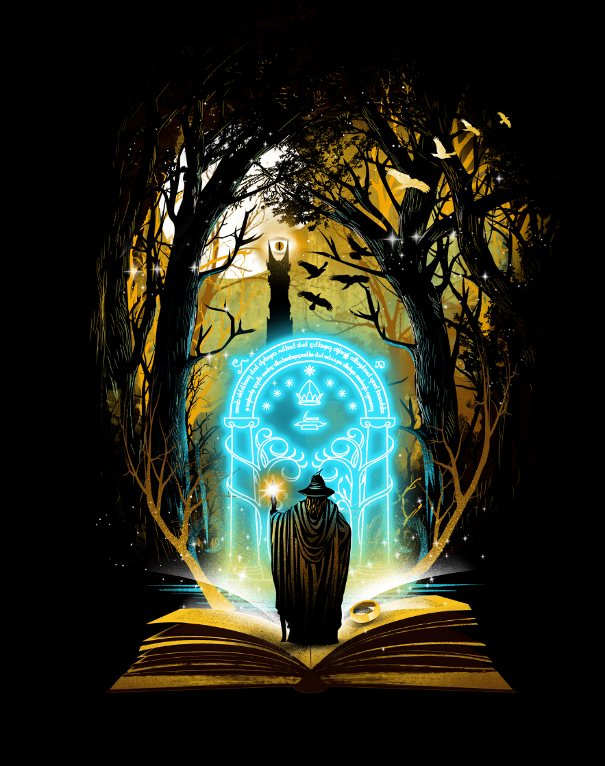 Book Series Illustration on Behance in 2020 | Lord of the ...