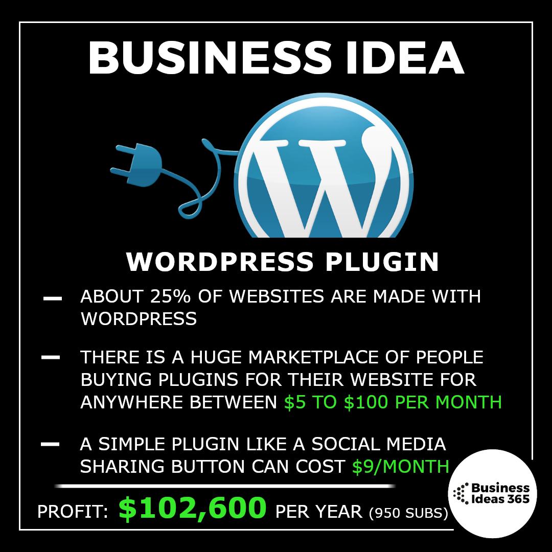 Business Idea: Wordpress Plugin