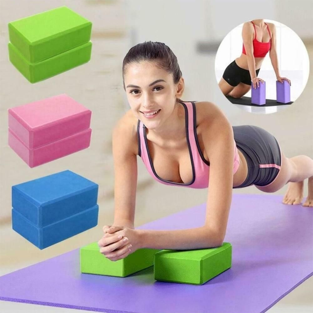 16 Colors Pilates Eva Yoga Block Brick Sports Exercise Gym Foam Workout Stretchi Ebay