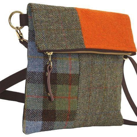 Explorer Harris Tweed Umhängetasche - Montage, Catherine Aitken   - einfache Taschen - #Aitken #Catherine #einfache #Explorer #Harris #Montage #Taschen #Tweed #Umhängetasche #handmade purses fabrics