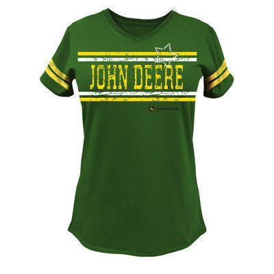 John Deere Ladies Varsity Tee – GreenToys4u.com