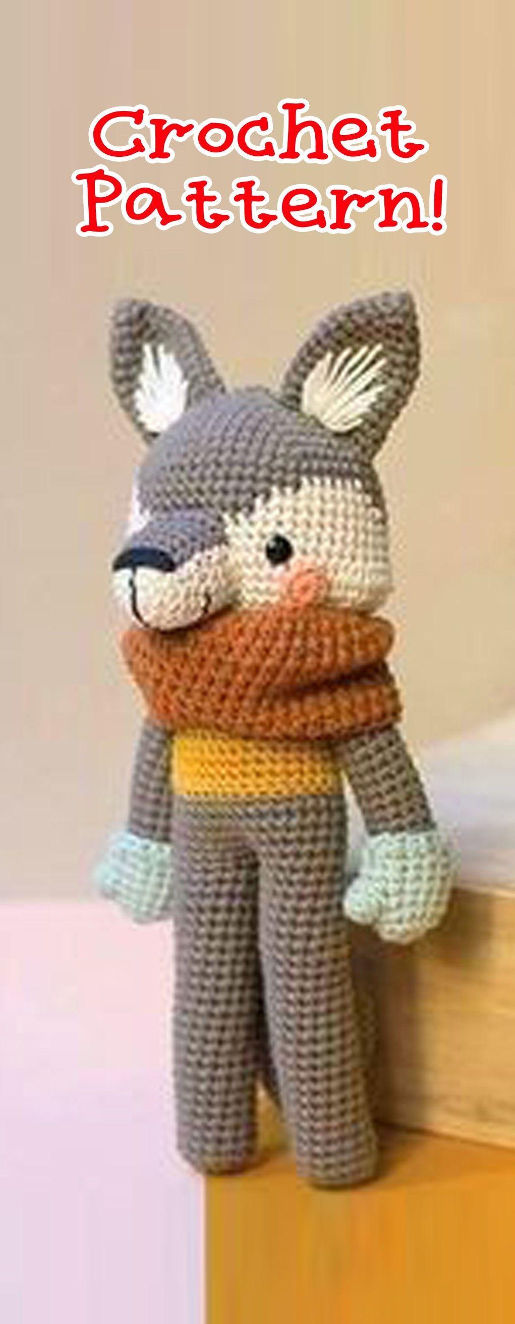 Wolf Crochet pattern, Amigurumi Wolf, Wolf amigurumi pattern ...