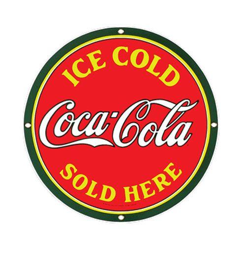 Coca Cola porcelain sign http://www.fiftiesstore.com