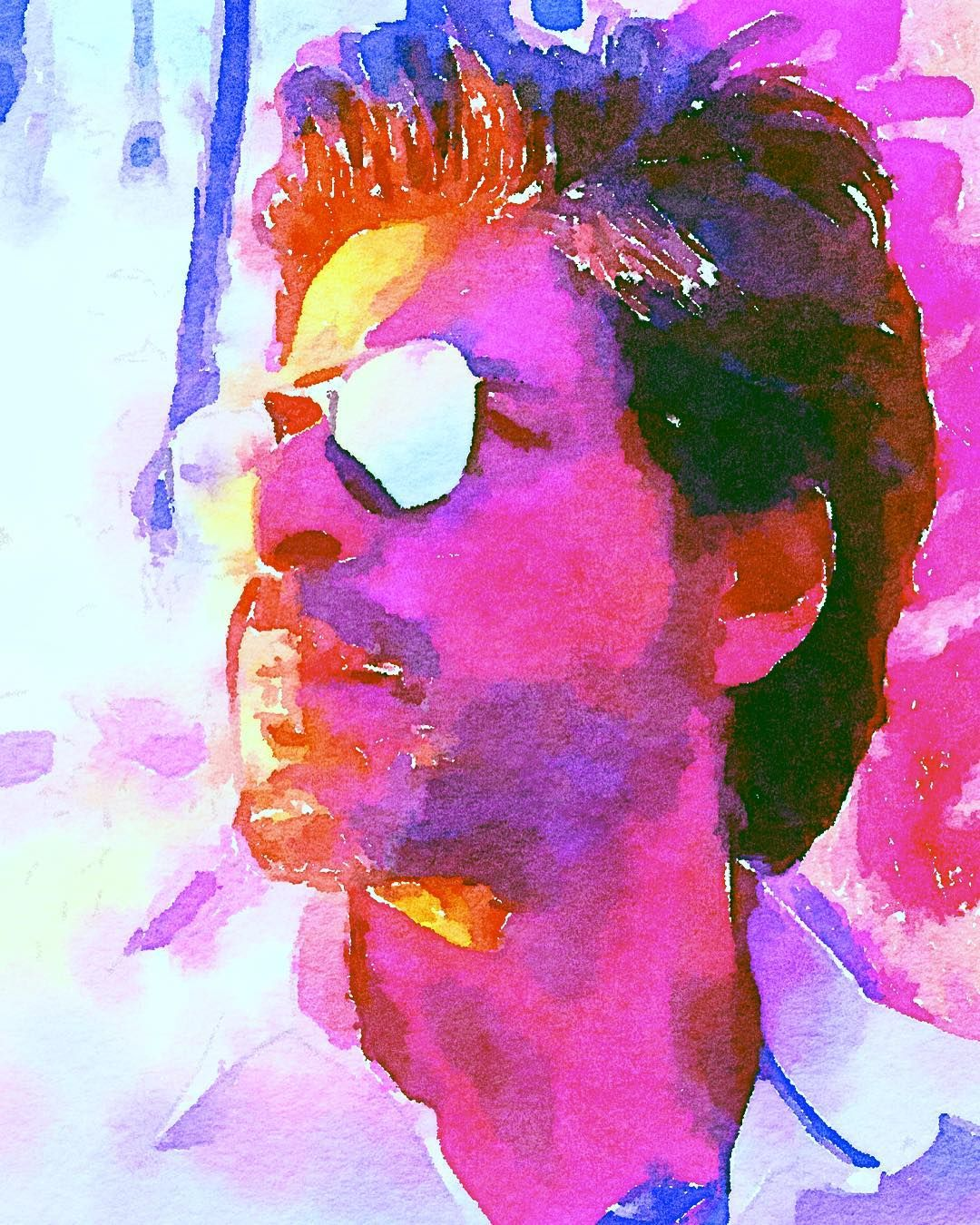 Happy Birthday SRK art illustration drawing draw