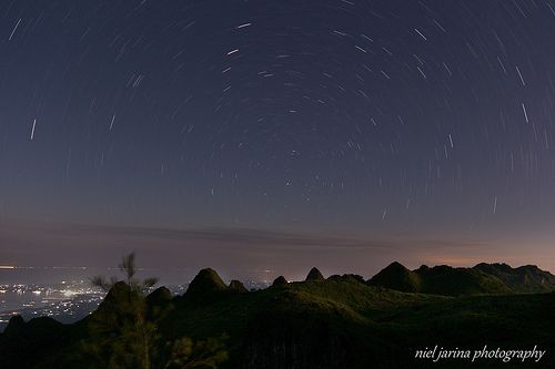 Northern Sky Star Trails, Polaris at the center