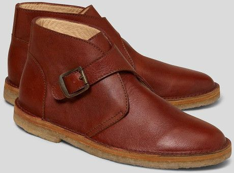 d23f1a87f64 Men s Brown Leather Monk Strap Desert Boots