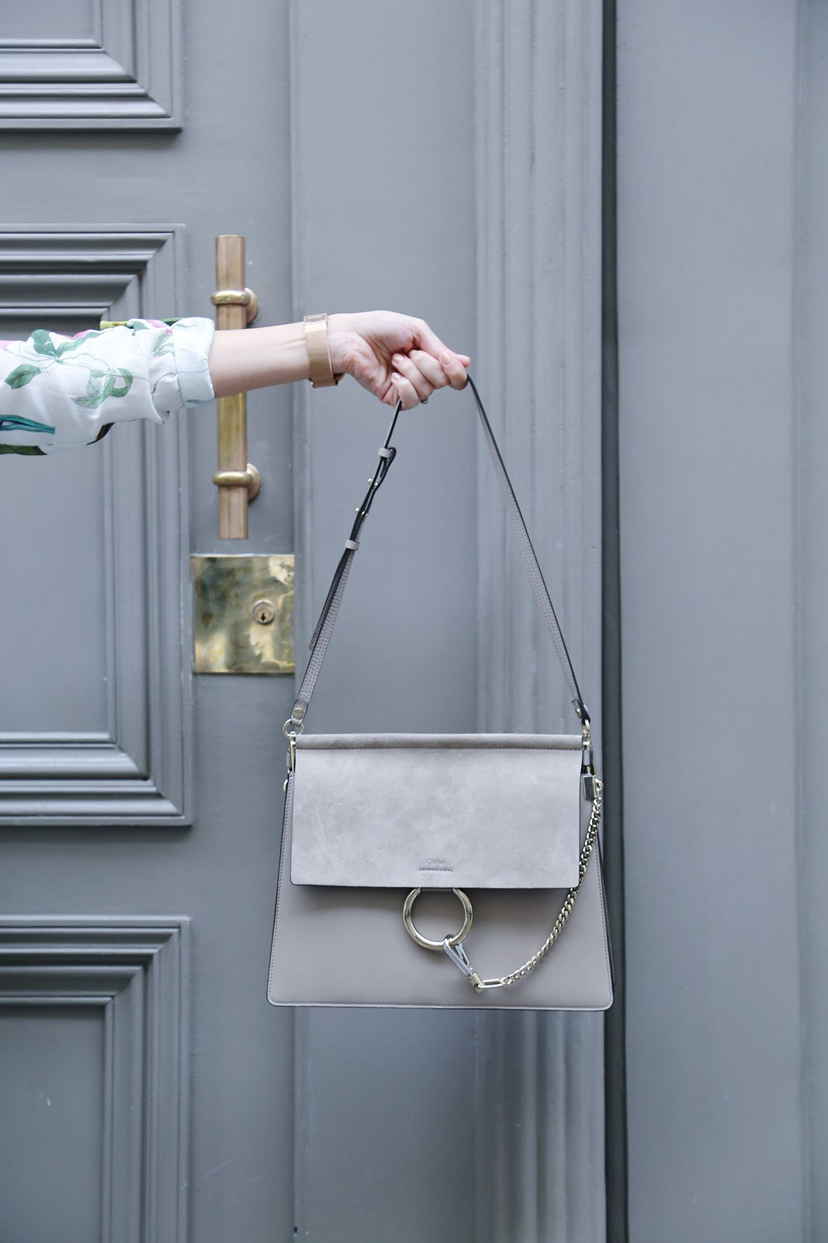 22e2e194 CHLOÉ - Faye Suede & Leather Shoulder Bag - Motty Grey - $1,950 ...
