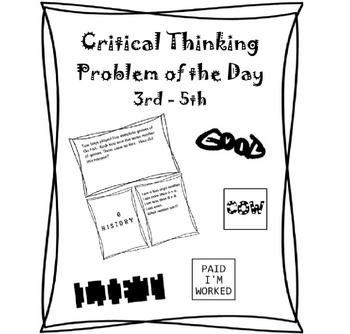 Critical Thinking 3rd Grade, 4th Grade, 5th Grade