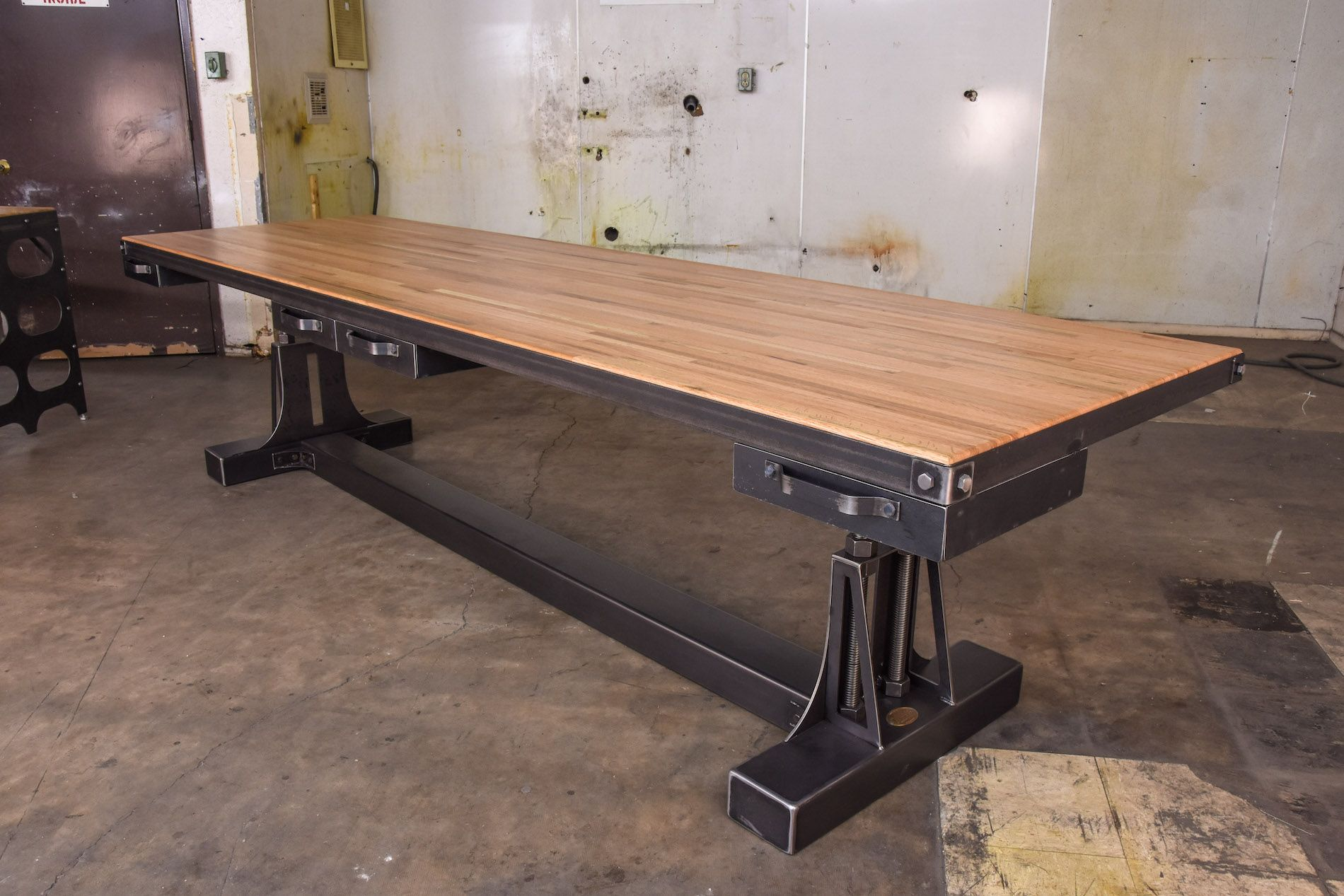 Post industrial conference table vintage industrial furniture - Post Industrial Double Workstation Model Po1 Vintage Industrial Furnitureindustrial