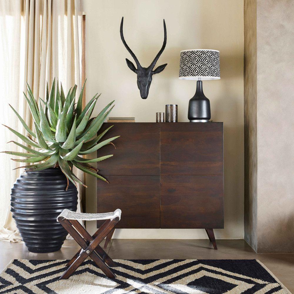Pot de jardin en terre cuite noire H.83cm | Lounge ideas