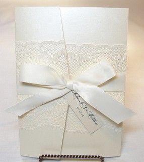 Lace Wedding Invitation Using Real