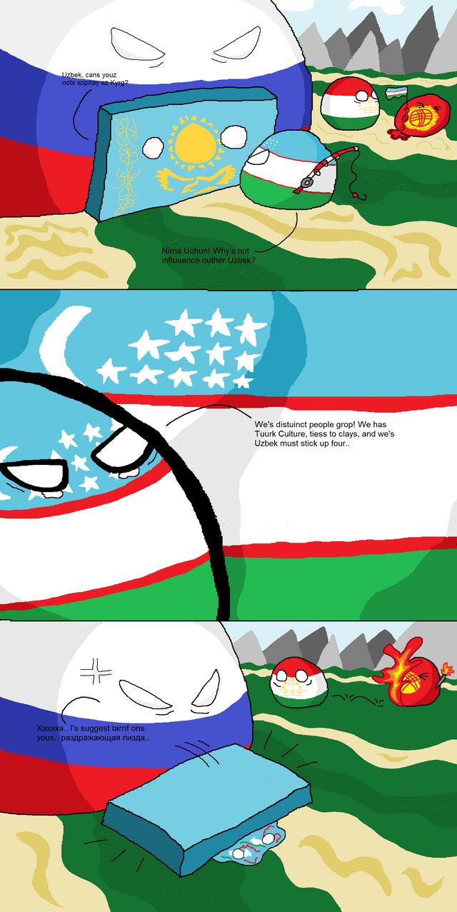 Uzbekistan Pressures Kazakhstan polandball Kazakhstan