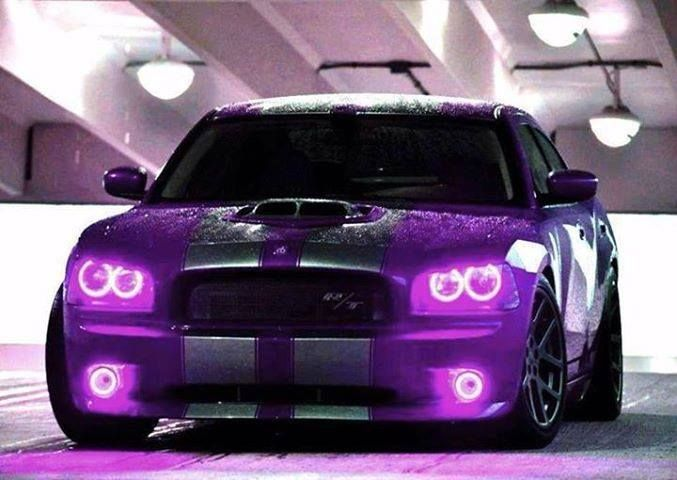 Don T Call This Dodge Charger Cute Unless You Re Ready For It To Charge Purple Headlights Colored Lights Dodge Cha Sweet Cars Dodge Charger Charger Car