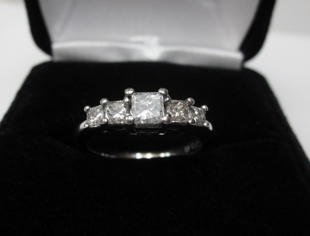 Details About 1ct Five Stone Genuine Round Diamond Wedding