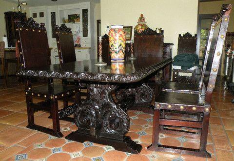 Isabellina Dining Table  Furniture Spanish & Southwestern Enchanting Spanish Dining Room Table Inspiration Design
