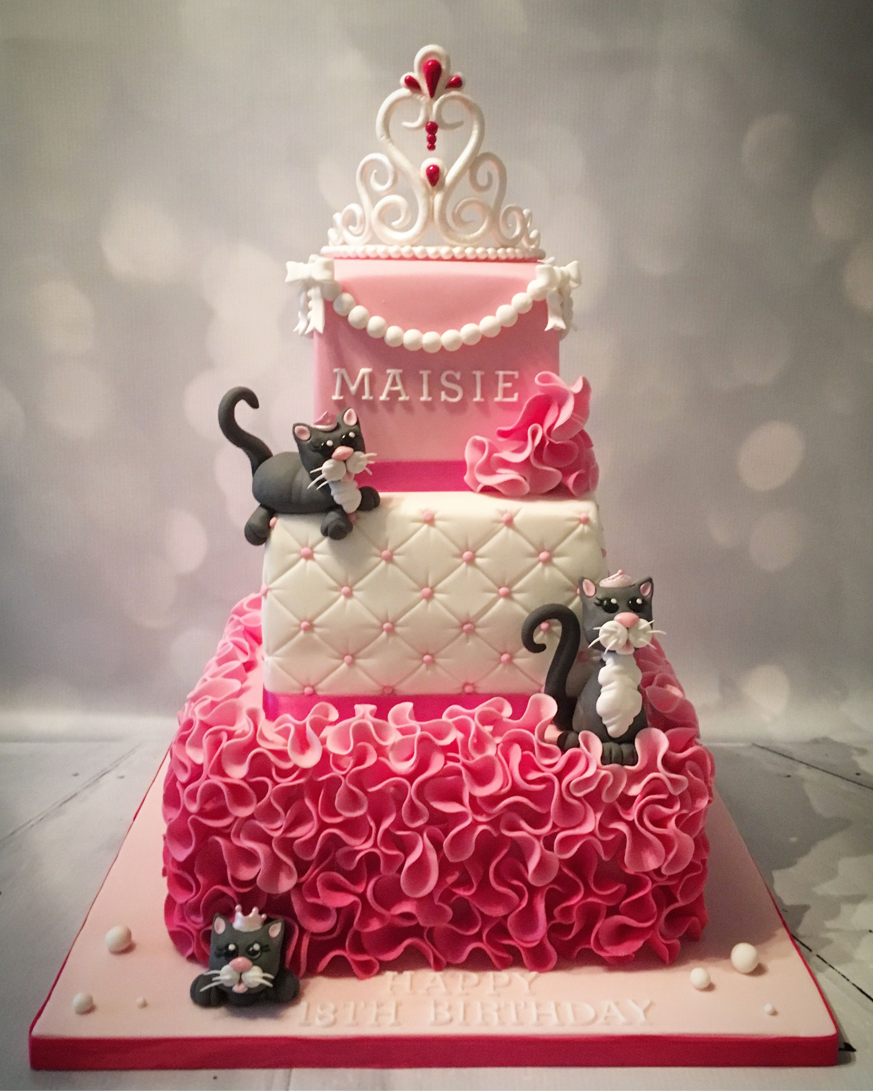 Terrific Princess And Her Cats Birthday Cake Birthday Cakes Birthday Funny Birthday Cards Online Ioscodamsfinfo