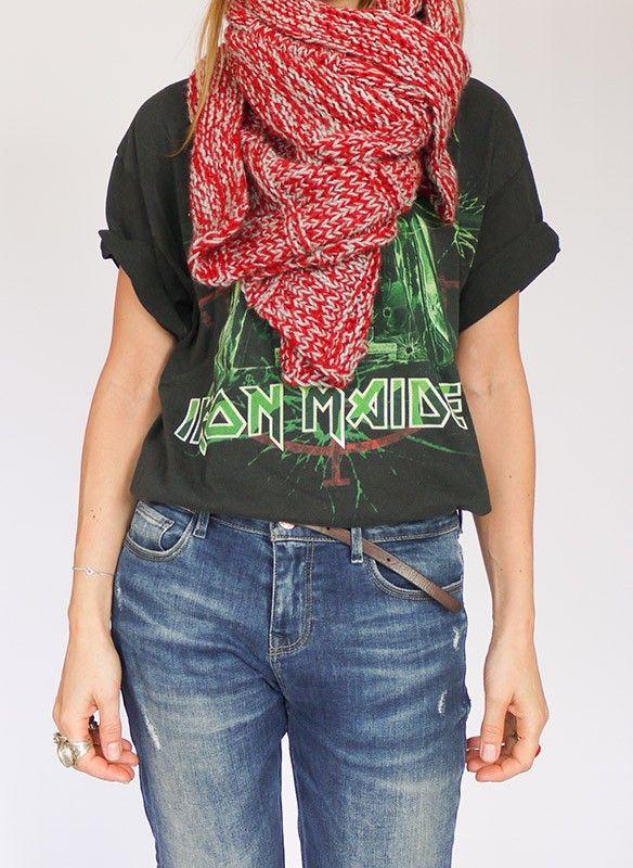 Vintage gebreide sjaal @ www.secondhandnew.nl