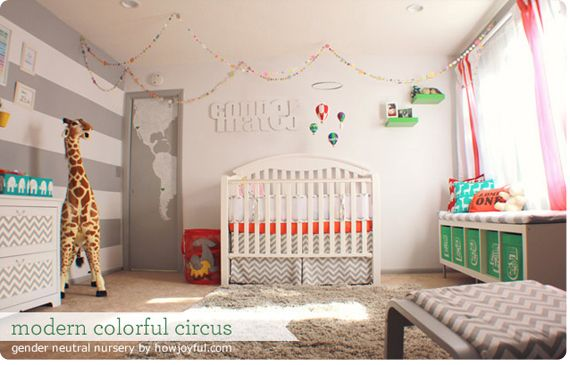 Circus Theme Handmade Nursery, Spearmint Baby Great Ideas