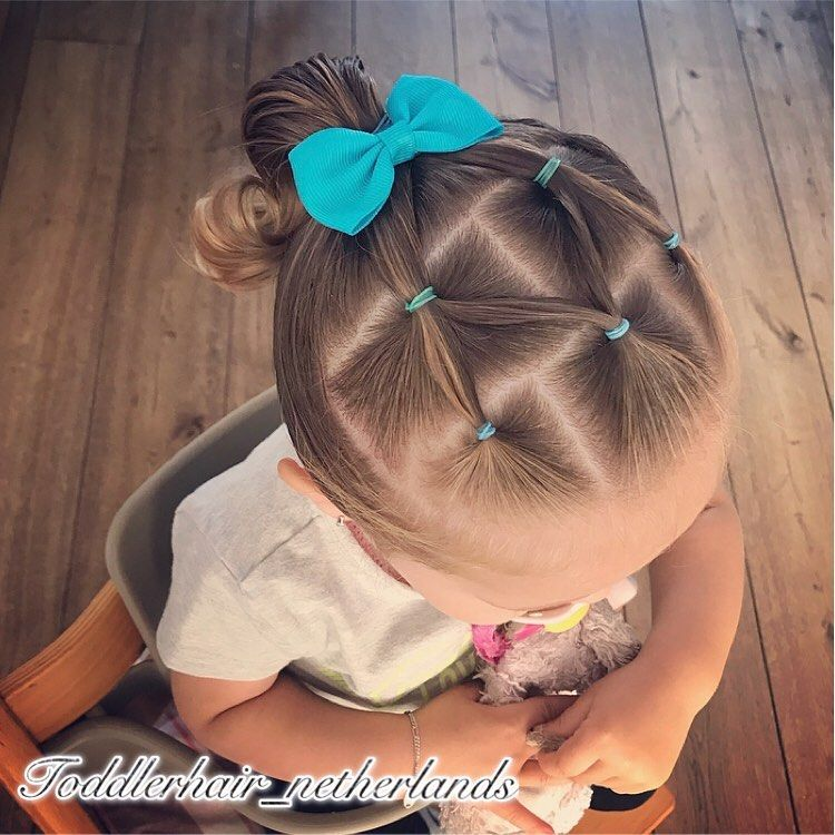 "Alix's Hairstyles on Instagram: ""Just a simple elasticstyle today in a high ponytail 🎀 Today Alix started at the pre-school for the first time. Finally she was allowed to…"""