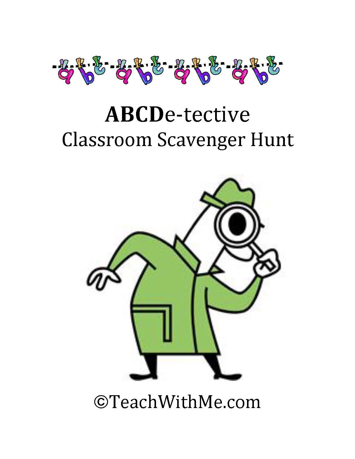 Abcdetective Classroom Scavenger Hunt