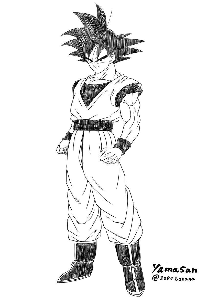 Base Form Goku Disegni Dragon Ball Dragon Ball Z E Dragon