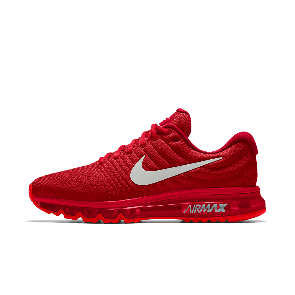 Nike Air Max 2017 Id Women S Running Shoe Size 8 5 Red Red Nike Shoes Red Nike Shoes Womens Nike Air Max For Women