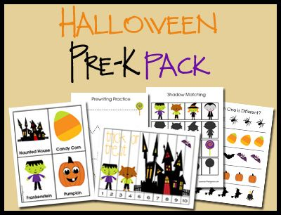 Halloween Pre-K Pack - LOVE all the info here too