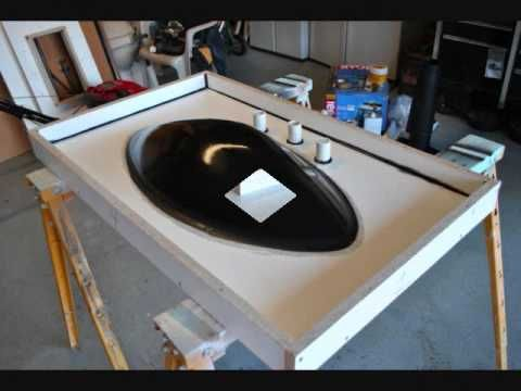 How To Make Concrete Sink Countertop Molds Using Foam Youtube