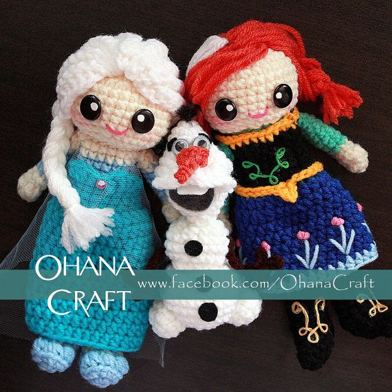 Elsa the Snow Queen or Princess Anna Frozen inspired crochet doll-Made to…