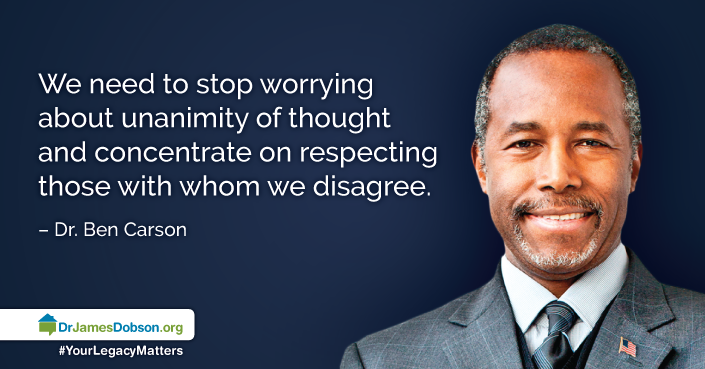 1 6 2016 One Nation Day 3 World Renowned Pediatric Neurosurgeon Dr Carson Joins Dr Dobson For One More Day Inspirational People God First Broadcast
